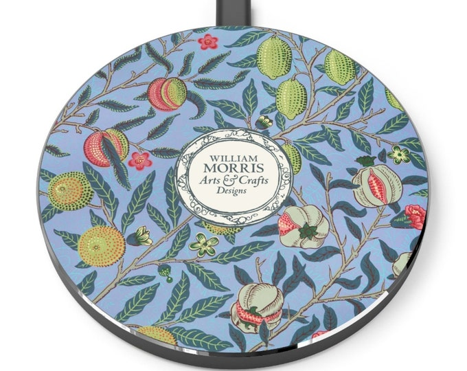 William Morris: Pomegranate | Desk Accessories | Docking Station | Qi Charger | Qi Wireless Charger | Morris and Co | William Morris Gift