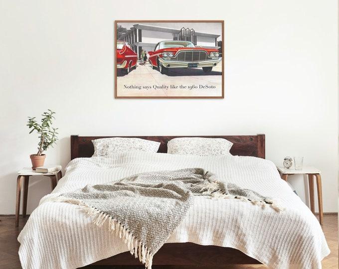 DeSoto: Classic car poster | Classic car wall art | Classic car poster | Transport prints | Transport wall art