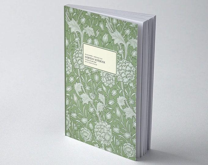 William Morris: Green Wild Tulip | Dot grid journal | Dot grid paper | Bullet Journal | Morris and co | William Morris gifts