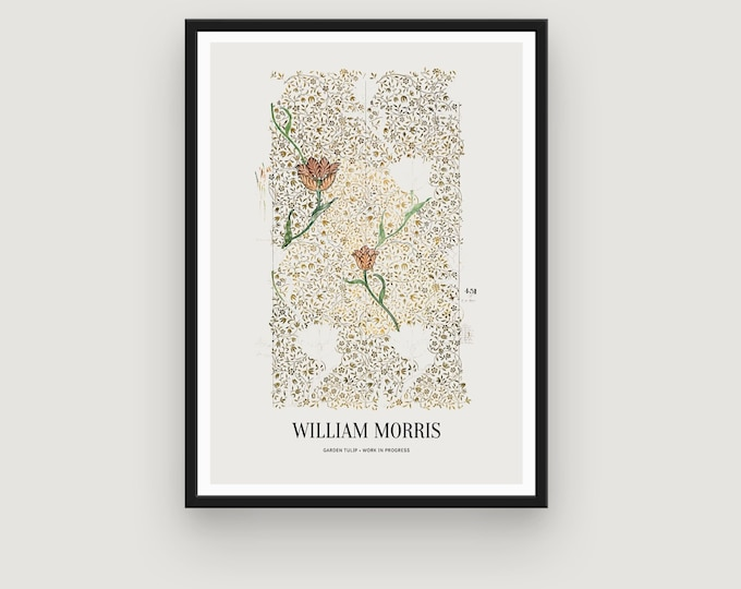 William Morris: Garden Tulip | Home Decor | Wall Decor | Art Print | Exhibition Poster | William Morris Print | William Morris Art