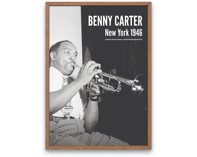 Benny Carter: New York 1946 | Vertical Print | Wall Art | Office Décor | Art Print | Jazz Poster | The Golden Age of Jazz | Jazz Music
