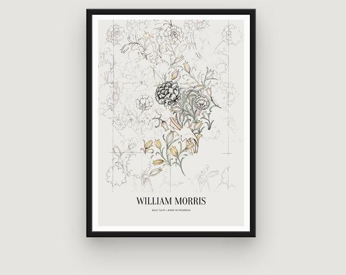William Morris: Wild Tulip | Home Decor | Wall Decor | Art Print | Exhibition Poster | William Morris Print | William Morris Art