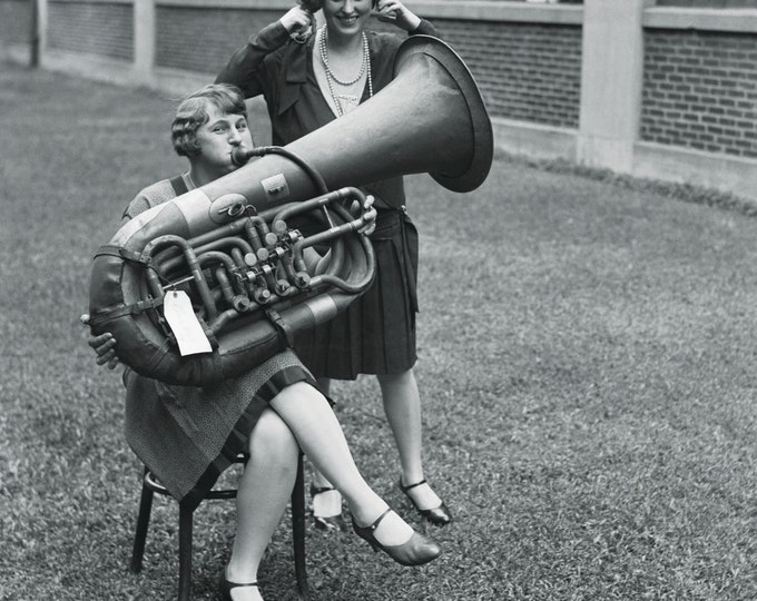 Poster: Grab a tubist to round out the band | Analog photo | Analog photography |  Historic photography | Vintage photography gift