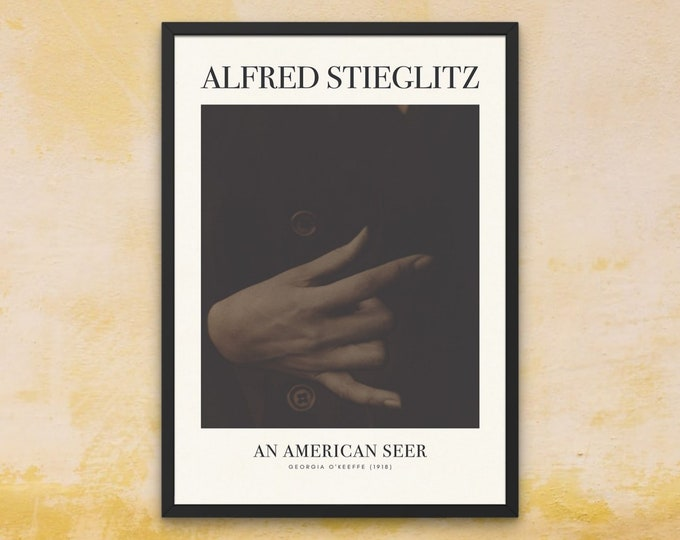Framed Art Print | Alfred Stieglitz: Georgia O'Keeffe | iconic photography prints | black and white fine art photography | above bed decor