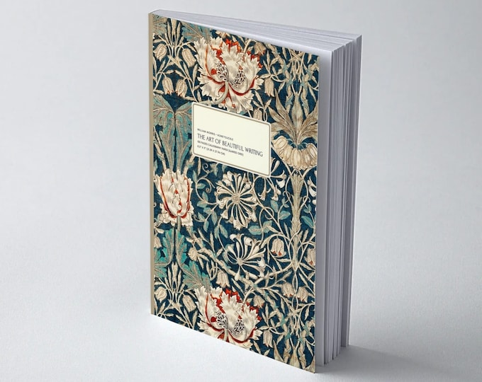 William Morris: Calligraphy workbook|Practice worksheet| Calligraphy supplies|Lettering practice|Morris and Co|William Morris gifts