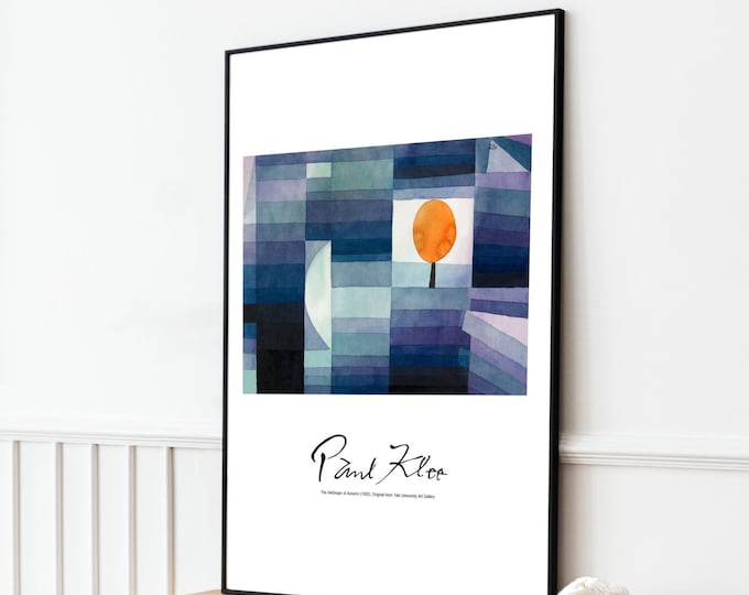 Paul Klee: The Harbinger of Autumn | Vertical Print | Wall Art | Office Décor | Art Print | Expressionism | Cubism | Surrealism