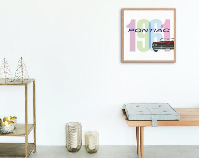 Pontiac: Classic car poster | Classic car wall art | Classic car poster | Transport prints | Transport wall art