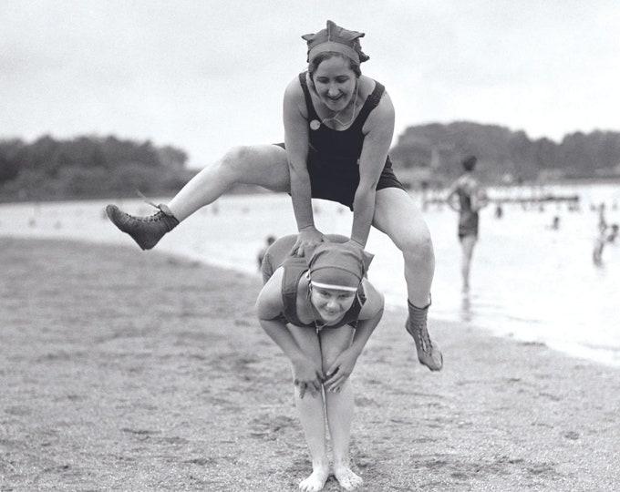 Poster: Beach Party | Analog photo | Analog photography |  Historic photography | Vintage photography gift | Wall decor