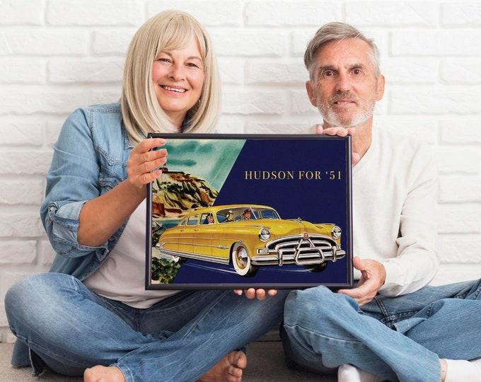 Hudson: Classic car poster | Classic car wall art | Classic car poster | Transport prints | Transport wall art