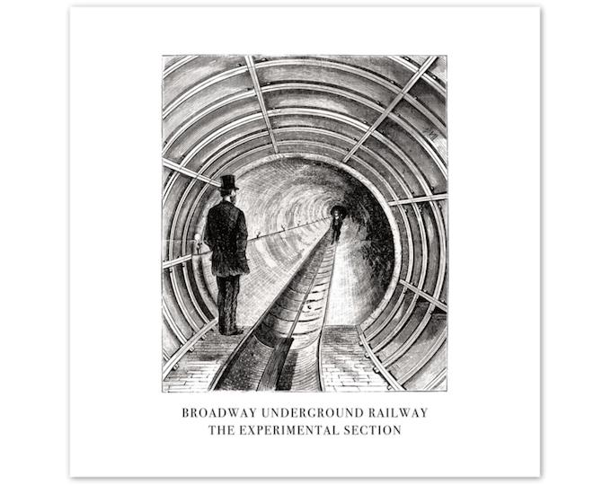 Aluminum Print: Broadway Underground Railway | Retro Travel Print | World Travel Poster | Wall Decor | Wall Art | Travel Poster
