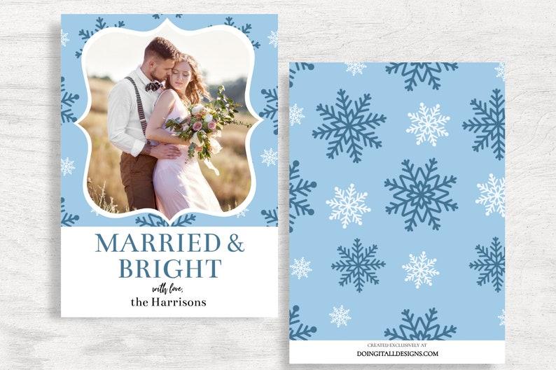 Editable Christmas Card Printable Card Christmas Card Template Newlywed Christmas Card Christmas Photo Card Married Christmas Card