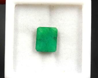 Natürliche Rubin Lose Edelstein Quadrat Smaragd Form 21 Karat Zertifiziert