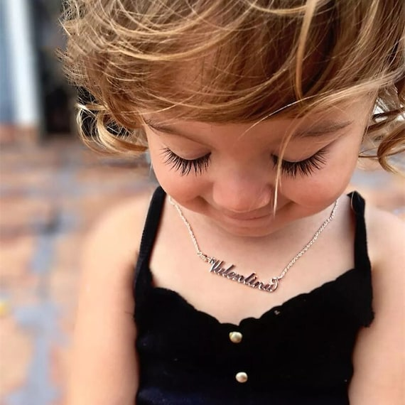 Toddler Name Necklace, Little Girl/Boy Necklace Personalized, Kids Necklace for Girls / Boys, Mommy and Me Jewelry Gift