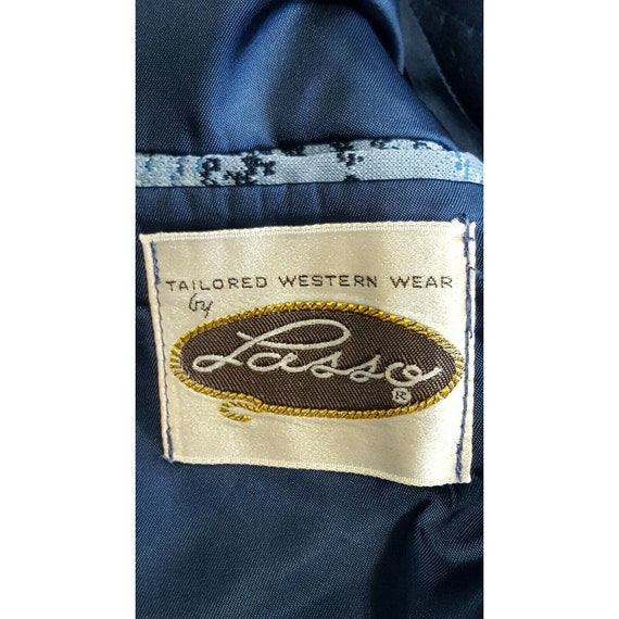 Lasso Western Blazer Sport Coat Vintage Suit Jack… - image 6