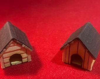 HO & O Scale Laser Cut Dog House Kit