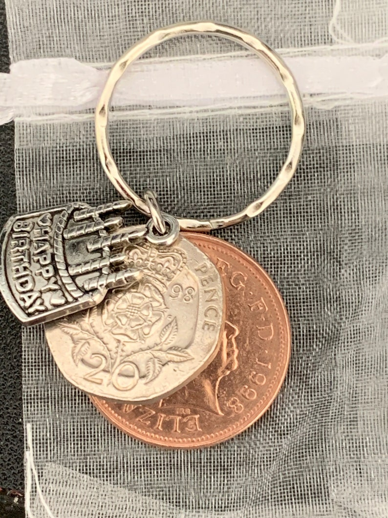 22nd Birthday Gift For Him Or Her 1999 Coins /& Charm Keyring In Gift Bag