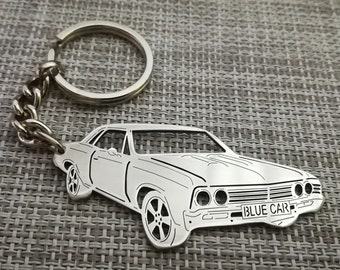 Key Ring and chain chrome 1969 Chevelle Custom Keychain