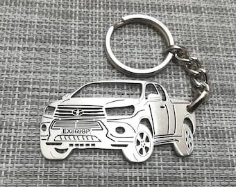 Toyota HILUX Leather Keyring Keychain Schlüsselring Porte-clés TRD HL2 HL3 SR5