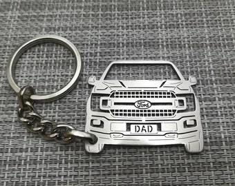 Ford F150 2015 to 2018 Genuine Black Leather Strap Detachable Key Chain
