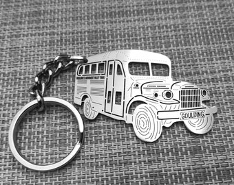 RAM Power Wagon 100/% Real Carbon Fiber 3 mm Thick Tag Style Key Chain Keychain