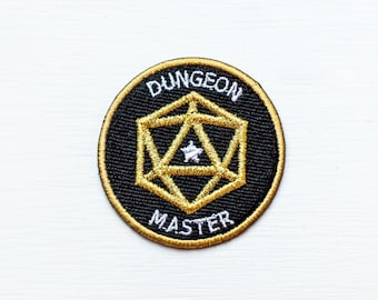 Dungeons & Dragons Inspired Scout/Achievement Iron On Patch - DUNGEON MASTER