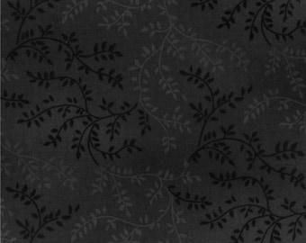 "108"" Vine Quilt Backing Fabric - Black"