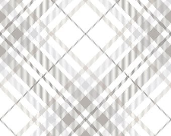 Tartan Plaid Fabric - Grey