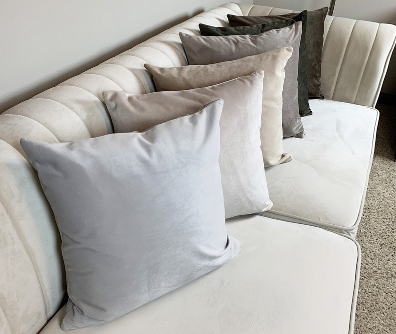 Velvet Pillow Cover with Invisible Zipper Decorative 100/% Polyester Nude Color Tones Velvet Pillow Cover \u2013 Handmade Multiple Size Covers