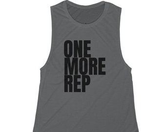 One More Rep Womens WHITE Gym Vest Fitness Muscles Workout Gear Wear Tank  U33
