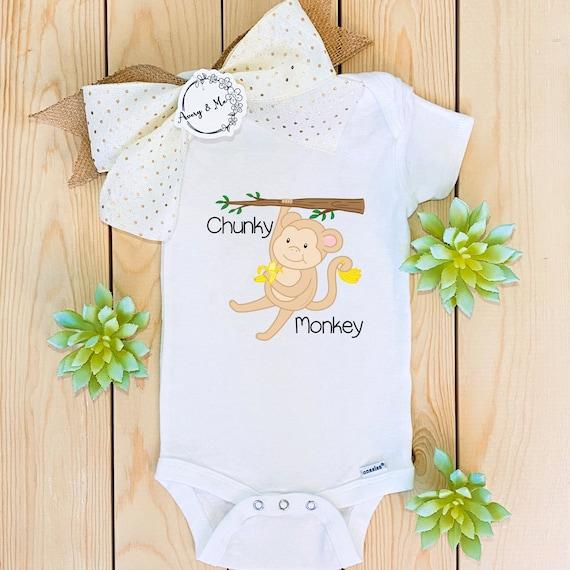 Sweet Monkey baby bodysuit or onesie size 0 to 3 months