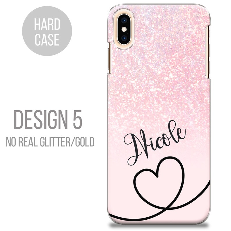 PERSONALISED phone case name initial hard plastic pink marble case cover for apple iphone 5 5s 6 7 8 11 Pro Xs XR Xs MAX