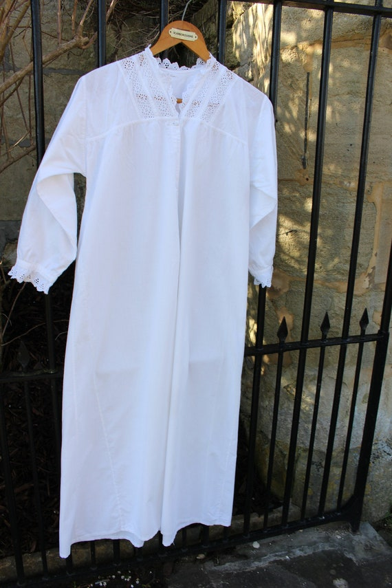 Vintage Victorian Cotton Nightdress/Summer Dress -