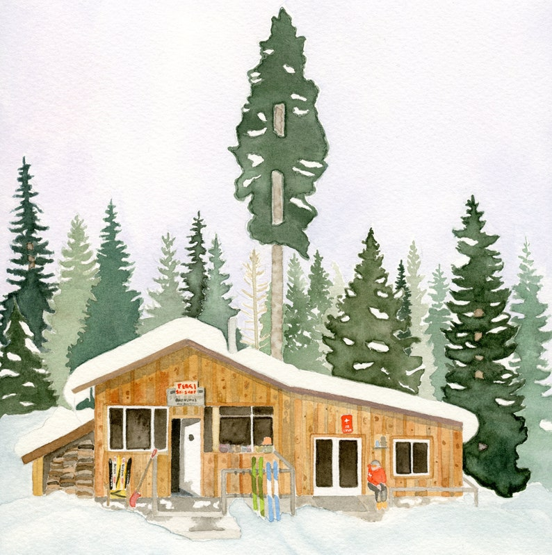 Print: Sweetest Ski Shop image 1
