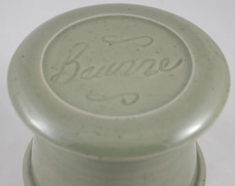 Celedon Beurre--French butter dish sometimes called a french butter keeper, french butter crock