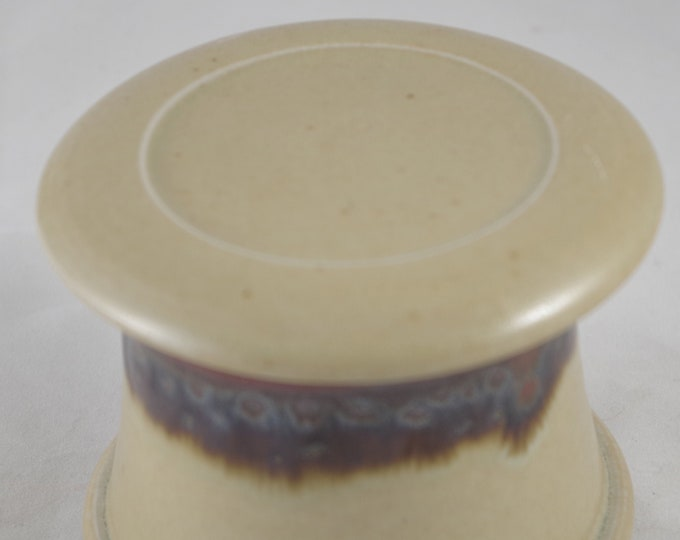 Butterscotch--French butter dish sometimes called a french butter keeper, french butter crock