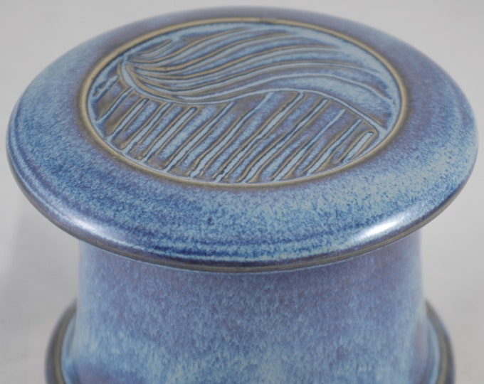 Blue Moon Free Form--French butter dish sometimes called a french butter keeper, french butter crock