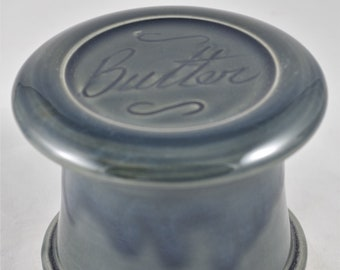 Misty Blue Butter--French butter dish sometimes called a french butter keeper, french butter crock