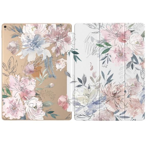 Flower iPad case iPad 10.2 case Painting iPad case iPad 12.9 2018 2020 floral iPad pro 11 iPad air case clear iPad 2017 9.7 case 10.5 2019 2