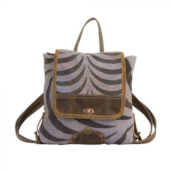 Myra Bag Backpack S 2203 Grey Tranquility Etsy Honey bee print backpack bag. etsy