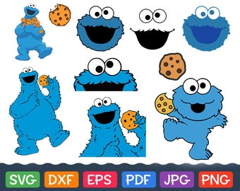 Cookie Monster Svg Etsy