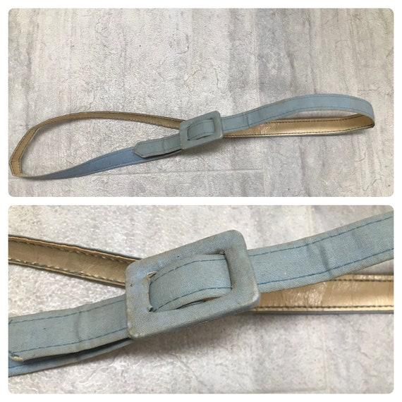 ON  SALE! Vintage 40's/50's Pastel Blue Belt - image 1