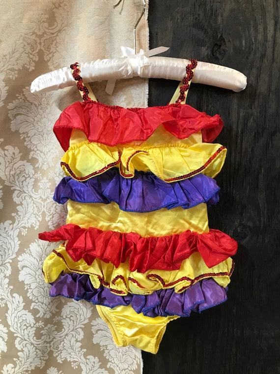 60's/70's Spanish Style Dance Leotard Costume Peti
