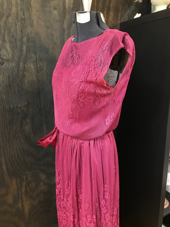 80's Does 30's Lace Gown
