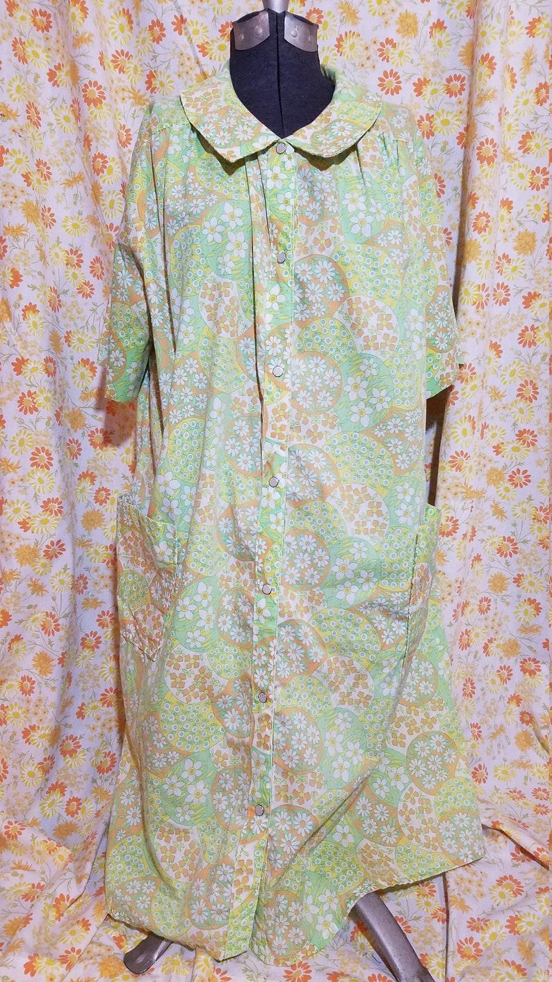 1960/'s Groovy House Coat Dress