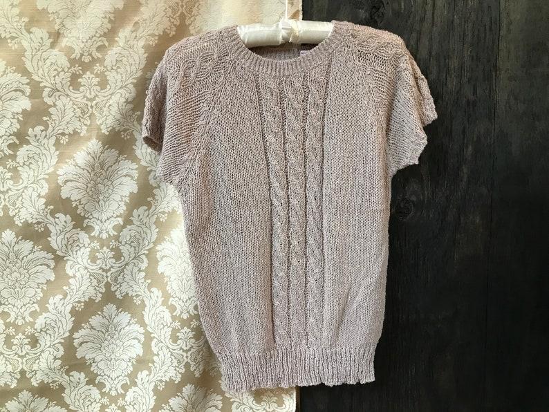 70/'s80/'s Short Sleeve Sweater