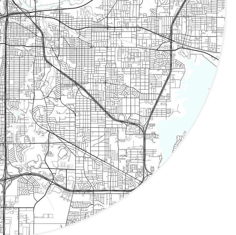 Fort Worth Map Print,Texas,City Map Art,DIGITAL DOWNLOAD