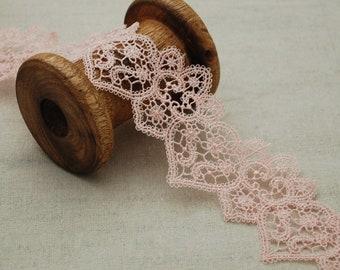 """1.25/""""//2.7cm Pretty Skin-tone Stretch Lace Trim.Sewing//Crafts//Cards"""