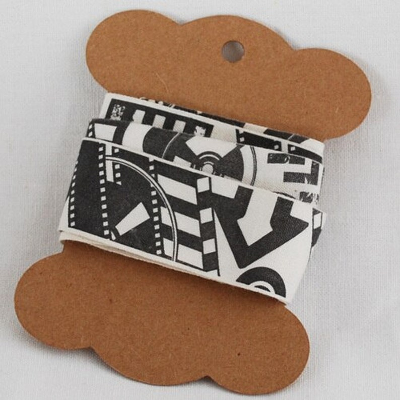 10cm x 8cm Pre-printed with our logo 200 Extra Thick Blank Sewing Label Gift Tag Ribbon Spool