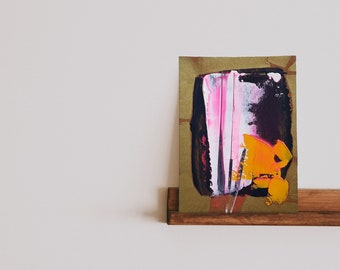 Small abstract painting on paper