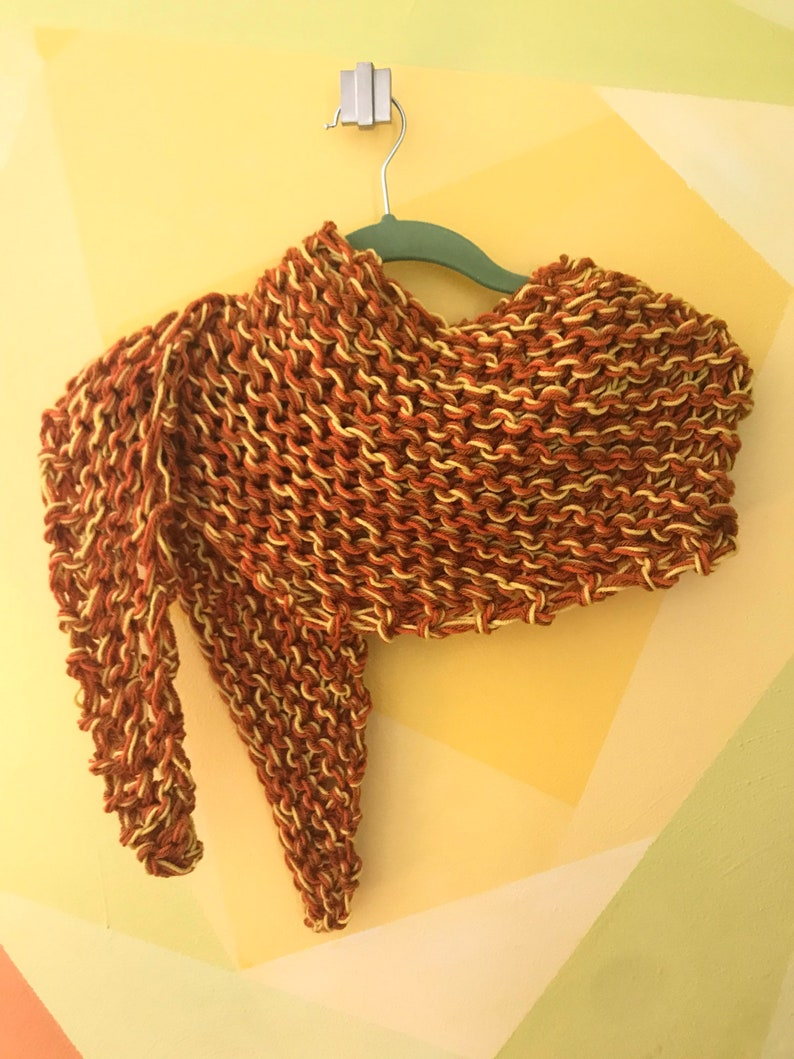 Marled orange scarf
